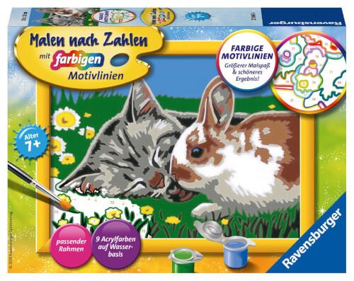 Ravensburger 278404 Malen Nach Zahlen Kätzchen Und Häschen