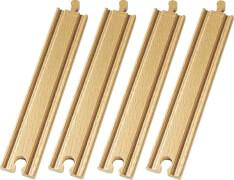 BRIO 33341007 1/1 Gerade Gleise (D), Holz, ab 36 Monate - 10 Jahre
