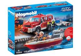 Playmobil 70054 Feuerwehrfahrzeug mit Löschboot