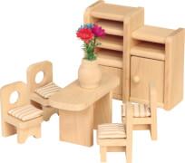Puppenhausmöbel Esszimmer, 6-teilig