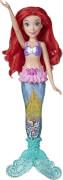 Hasbro E63875L0 Disney Prinzessin Glitzershow Arielle mit Lichtern, Meerjungfrauenschwanz mit Wasser, Glitzer und Musche