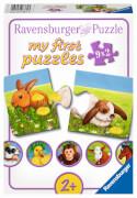 Ravensburger 07331 Puzzle Liebenswerte Tiere 2, 4, 6, 8 Teile