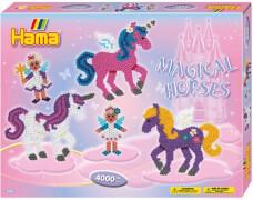 HAMA Bügelperlen Midi - Geschenkpackung Zauberhafte Pferde - 2 Stiftplatten