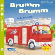 Buch ''Baby Pixi - Band 23: Brumm, Brumm: Große Fahrzeuge'', 16 Seiten, ab 12 Monaten