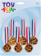 Toy Fun Medaillen am Band, 6 Stück