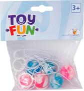 Toy Fun Flummi mit Gummiband, 25 mm, 6 Stück